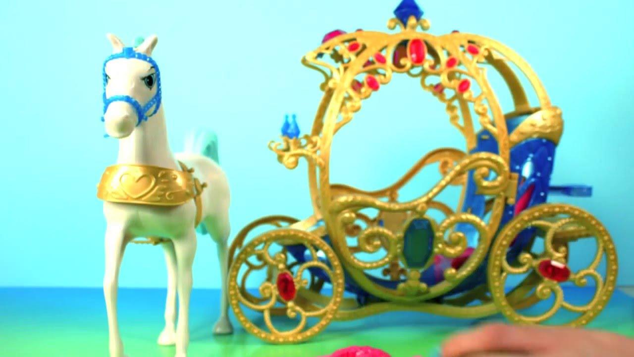 Игровой набор disney princess лошадь с каретой для золушки (mattel)