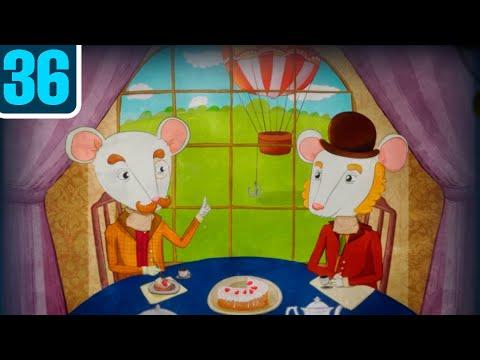 Волшебный фонарь. 5 часов на воздушном шаре. Серия 36. Мультфильм диафильм для детей.