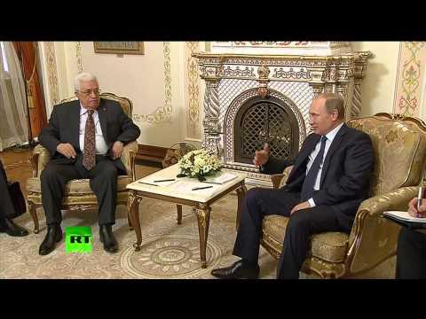 Vladimir Poutine a reçu Mahmoud Abbas pour évoquer la situation au Moyen-Orient