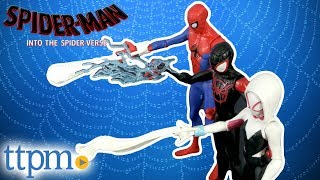 Spider-Man Into The Spider-Verse Spider-Man, Spider-Gwen, Miles Morales, and Prowler Figures