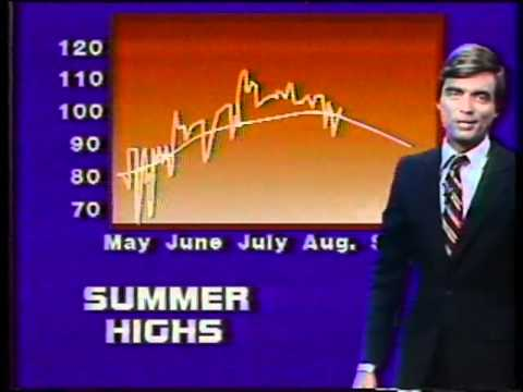 WFAA-1980 Summer Heat Wave Weathercast Clips