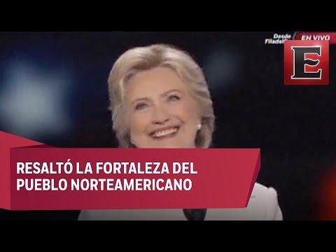 Hillary Clinton acepta candidatura demo?crata a la presidencia de EU