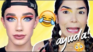 INTENTE SEGUIR EL TUTORIAL DE MAQUILLAJE DE JAMES CHARLES (drag makeup)