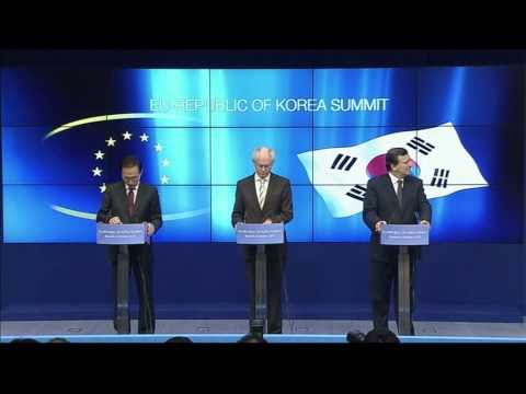 Remarks during the press conference on the EU-South Korea Summit