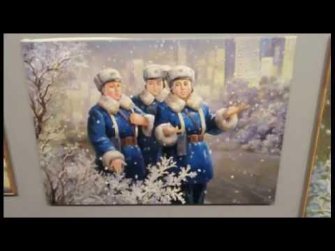 북한 / 북조선 유화 (Democratic People's republic of Korea / North Korea Oil painting)
