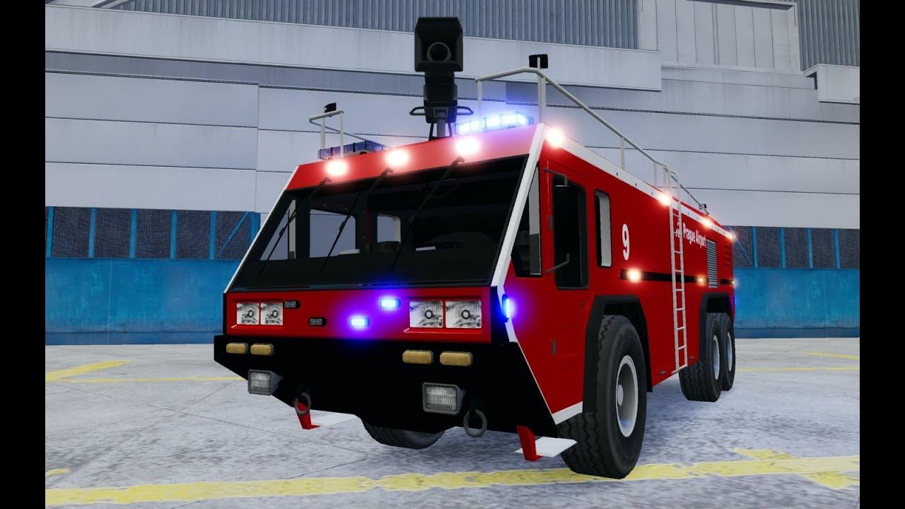 Gta Iv Airport Fire Truck Hd Youtube