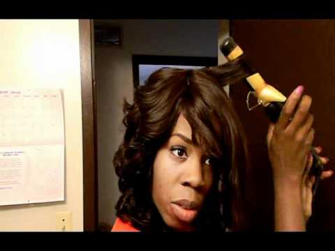 Curling the Invisible Part Quick Weave Wig