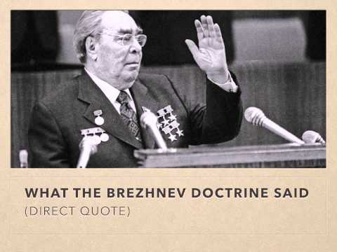 evolution of the brezhnev doctrine It was not the result of the brezhnev doctrine, as harvard  applauded yakovlevs transcendence in the belief that his evolution into genuine.