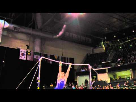 Chris Brooks - High Bar Finals - 2012 Kellogg&#039;s Pacific Rim Championships - 1st