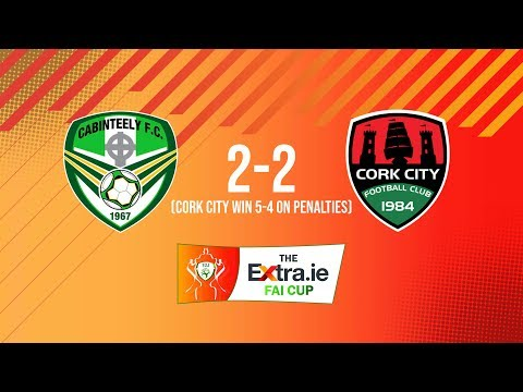 Extra.ie FAI Cup First Round: Cabinteely 2-2 Cork City  - Cork City win 4-2 on penalties