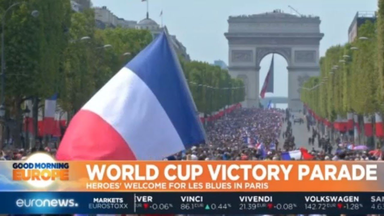 World Cup Victory Parade: Heroes' welcome for Les Bleus in Paris