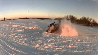 2013 Can-Am renegade 1000 XXC mod Deep snow!!
