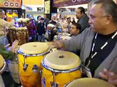 Top Percussion @ The NAMM Show PART 1 of 3 Giovanni Hidalgo, David