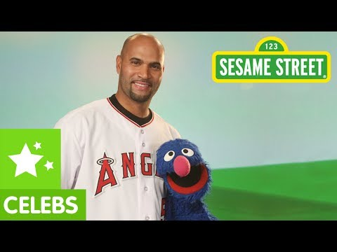 Sesame Street: Albert Pujols and Grover, Two Great Athletes