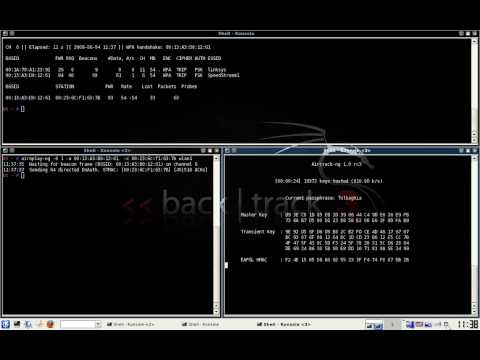 Backtrack Series - 5: Cracking WPA Protected Network Using ASCII Dictionary Attack