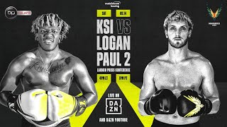 KSI vs. Logan Paul 2 Launch Press Conference