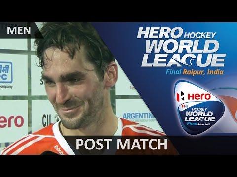 Post Match Interview Robert Van der Horst #HWL2015 #Raipur