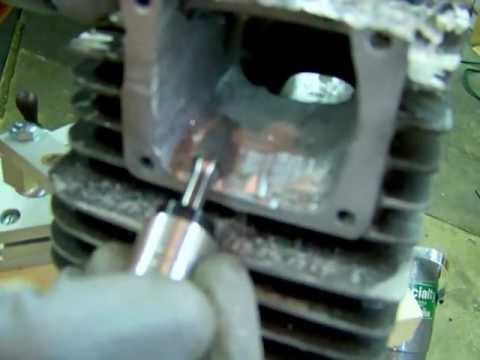 Porting tips on how to use carbide bur. burrs. or cutters. 2 stroke porting.MOV