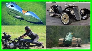 Most Funny and Unusual Design Motorcycles Ever Made. Most Crazy and Strange Looking Motorbikes