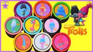 TROLLS HUEVOS DE PLASTILINA  Play Doh Juguetes en español