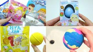 Daiso Nicopiyo Egg Toy Oden Rilakkuma LUSH Bath Ball Compilation