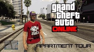 Gta 5 Online: Apartment Tour! (Del perro heights Apt 7)