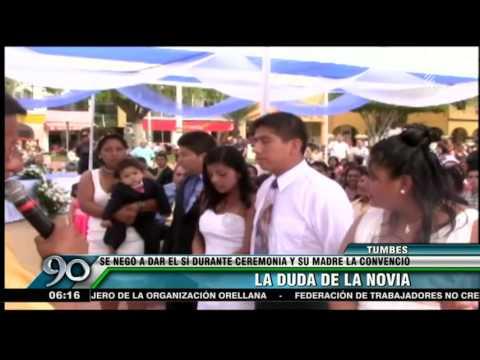 Tumbes: Novia dudó varias veces antes de dar el sí en una boda masiva