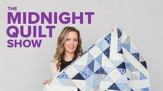 Modern Bursting Star Free Quilt Pattern | The Midnight Quilt Show
