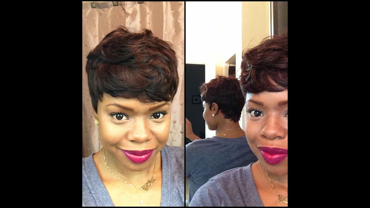 Short and Sassy - Custom 27 Piece Wig - YouTube