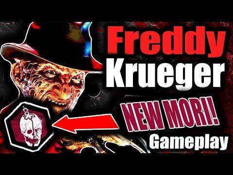 FREDDY KRUEGER   NEW KILLER AND MORI GAMEPLAY! - Dead by Daylight