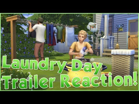 Sims 4 Laundry Day Stuff Pack Trailer Reaction!!