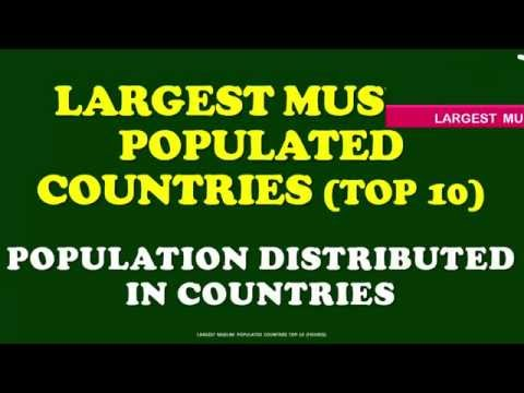 TOP 10 LARGEST MUSLIM POPULATIONS IN COUNTRIES