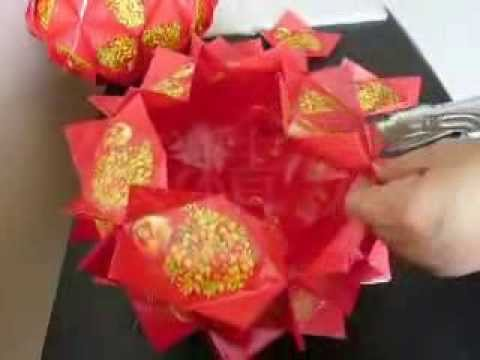 how to make lantern using red packet