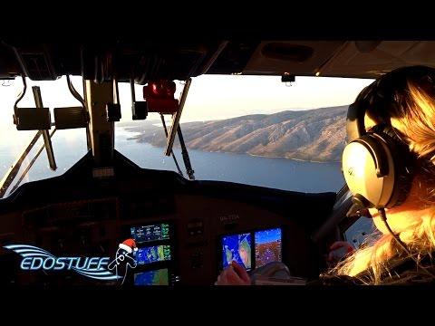 European Coastal Airlines DHC-6-300 - Full Flight with Cockpit Views - Jelsa to Resnik FULL HD