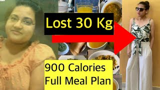 Diet Plan to Lose Weight Fast | 900 Calories - Veg Diet Plan | Full Day Meal Plan