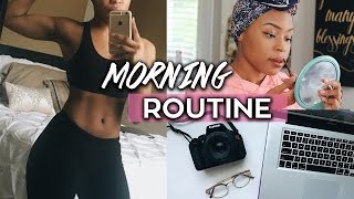 HEALTHY MORNING ROUTINE (Breakfast, Makeup, Diet, & Workout)