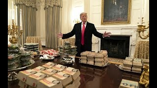 Donald Trump serves McDonald's on  silver platters as White House chefs go unpaid amid shutdown