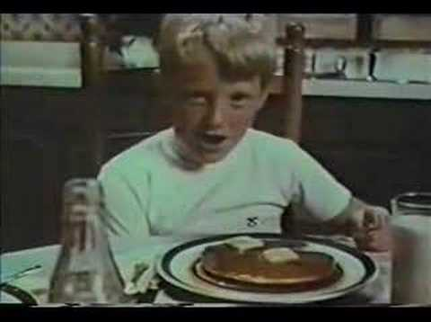 Bobby Hull and son Log Cabin Syrup Commercial not Brett Video