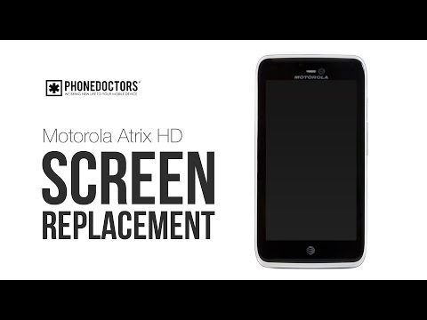 Motorola Atrix HD Screen Repair Digitizer Replacement Video