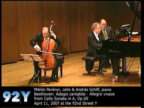 0 Miklós Perényi, cello & András Schiff, piano perform Beethoven