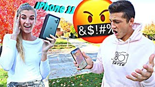 BREAKING Boyfriends Phone, Then Surprising Him With iPhone 11