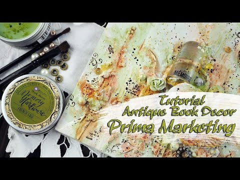 Antique Book Decor - for Prima Marketing