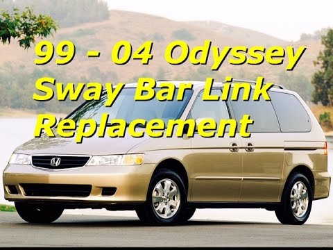 99 - 04 Honda Odyssey Sway Bar End Link Replacement   Install front stabilizer   Bundys Garage