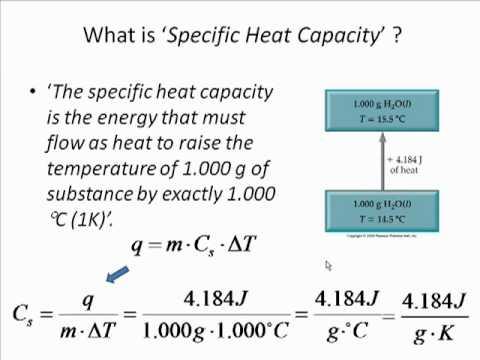 chemistry ia measuring heat capacity 11102018 specific heat capacity determines the energy needed to change temperature,  measuring specific heat capacity  chemistry (single science.