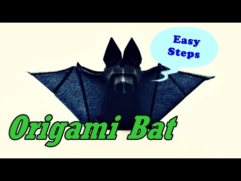 How To Make Paper Bat | Origami Bat Art Work | Easy to Follow Steps
