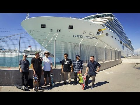 Skate Trip on a Luxury Cruise Liner - The Mediterranean Skateboard Cruise - Part 1