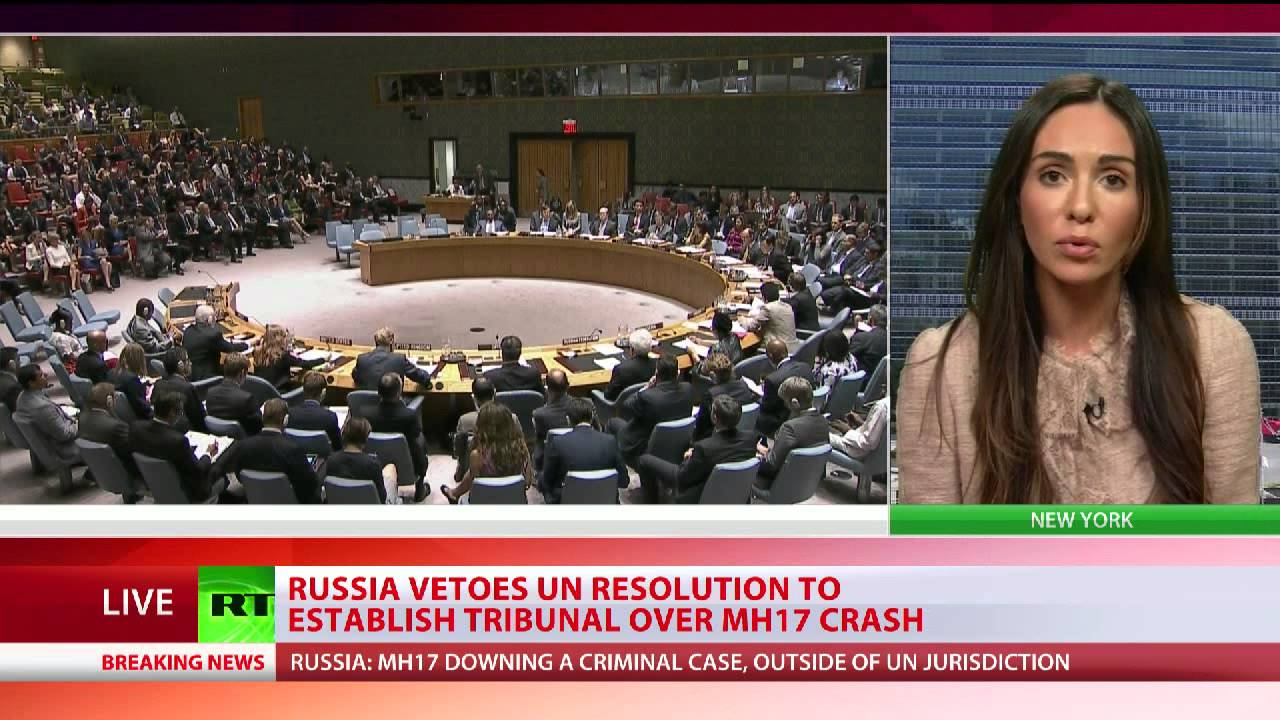Russia vetoes MH17 tribunal draft at UN Security Council