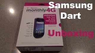 Samsung Dart T-mobile No contract Phone Unboxing | First Boot-up & Impressions!