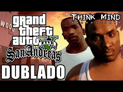 GTA San Andreas no Rockstar Editor (GTAV) / Dublado - Think Mind