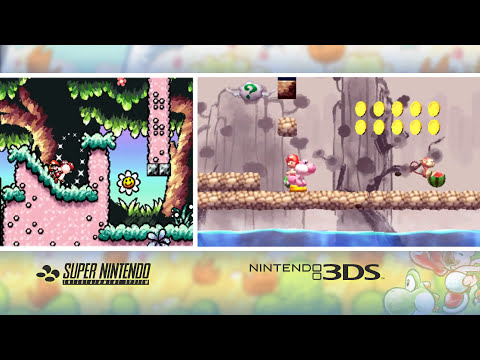Video Comparison - Yoshi's New Island / Yoshi's Island (SNES)